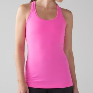 LULULEMON bright pink luon cool racerback